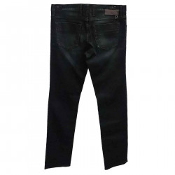 DARK BLUE JEANS WITH SLAVED EFFECT