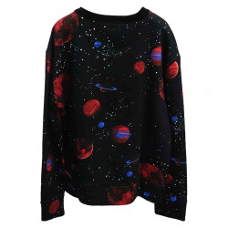 BLACK SWEATER WITH FANTASY