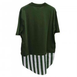 GREEN AND WHITE T SHIRT