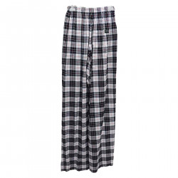 WHITE AND BLACK CHECKED TROUSERS