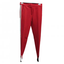 RED TROUSERS WITH EDGE STRIPES