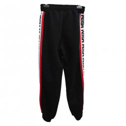 BLACK PANTS WITH SIDE WRITINGS