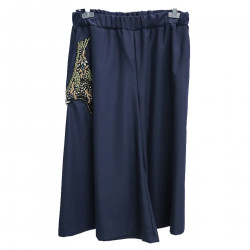 WIDE BLUE TROUSERS WITH DETAIL