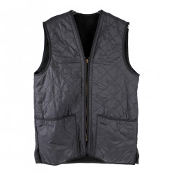 BLUE GILET WITH ZIP