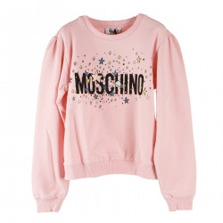 PINK SWEATSHIRT WITH WRITING