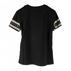 BLACK T SHIRT WITH STRASS