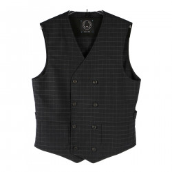 BLUE CHECKED GILET