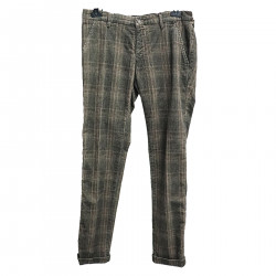 GRAY AND BROWN VELVET TROUSERS