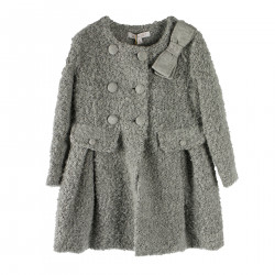 GRAY COAT WITH BOW