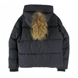 BLUE NIGHT DOWN JACKET WITH HOOD