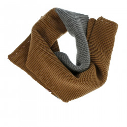 GRAY AND BROWN SCARF
