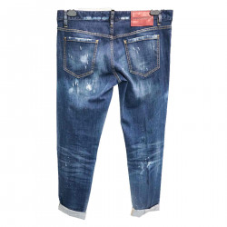 SLAVED EFFECT BLUE JEANS