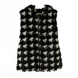 BLACK AND GRAY FAUX FINISH VEST