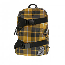YELLOW AND BLACK BACKPACK WITH EMBLEM