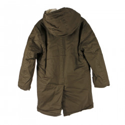 BROWN DOWN JACKET WITH HOOD