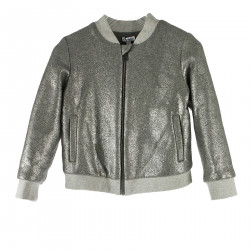 GRAY BOMBER WITH GLITTER