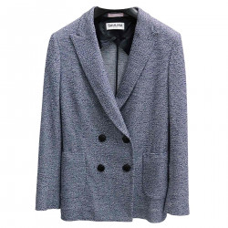 BLUE DOUBLE-BREASTED JACKET