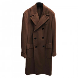 BROWN COAT IN CASHMERE