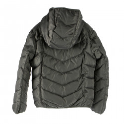 GRAY DOWN JACKET WITH HOOD