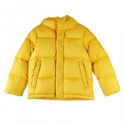 YELLOW DOWN JACKET WITH HOOD