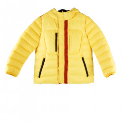 YELLOW DOWN JACKET WITH PRINT