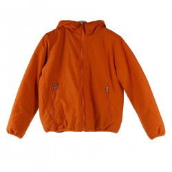 ORANGE DOWN JACKET WITH HOOD