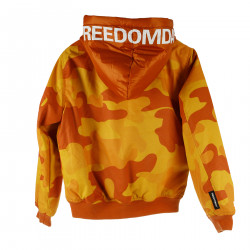 ORANGE CAMOUFLAGE DOWN JACKET