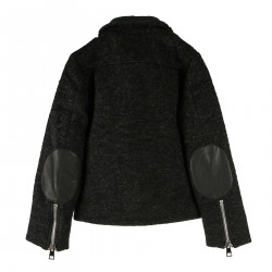GRAY SPIDER JACKET WITH PATCHES