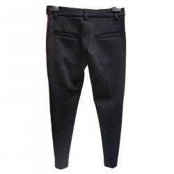 BLACK PANTS WITH SIDE BANDS