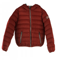 BORDEAUX DOWN JACKET WITH HOOD