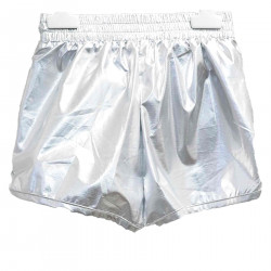 SHORTS COLOR ARGENTO