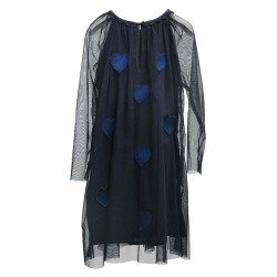 BLUE DRESS WITH HEARTS APPLICATION