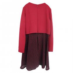 BORDEAUX DRESS WITH LUREX