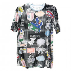 MULTICOLORED T SHIRT WITH PRINTS