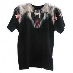 BLACK T SHIRT WITH PRINT