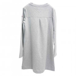 GRAY DRESS WITH APPLICATION