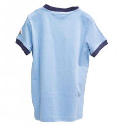 BLUE T SHIRT WITH PRINT