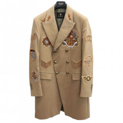 BEIGE TRENCH WITH PATCHES