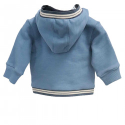 BLUE AND LIGHT BLUE JACKET WITH HOOD
