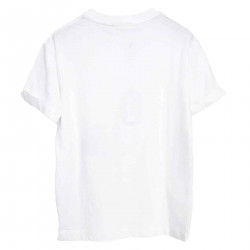 WHITE T SHIRT WITH PRINTS