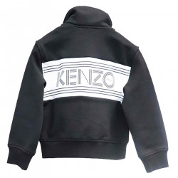 BLACK SWEATSHIRT WITH WRITING