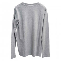 GRAY SWEATER WITH LOGO