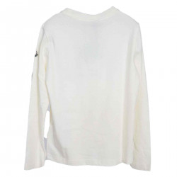 CREAM SWEATER WITH LOGO