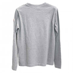 GRAY SWEATER WITH LOGO AND WRITING