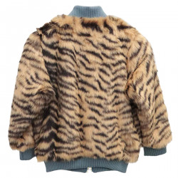 ANIMALIER FAUX LEATHER JACKET