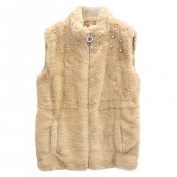 BEIGE VEST IN FAUX FINISH