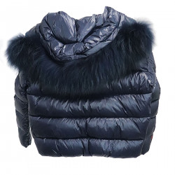 NAVY BLUE DOWN JACKET WITH HOOD