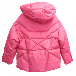 FUCHSIA DOWN JACKET WITH HOOD