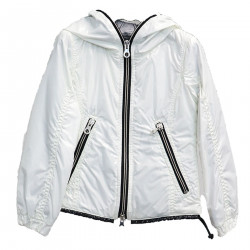 WHITE JACKET WITH HOOD