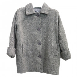 GRAY MELANGE COAT